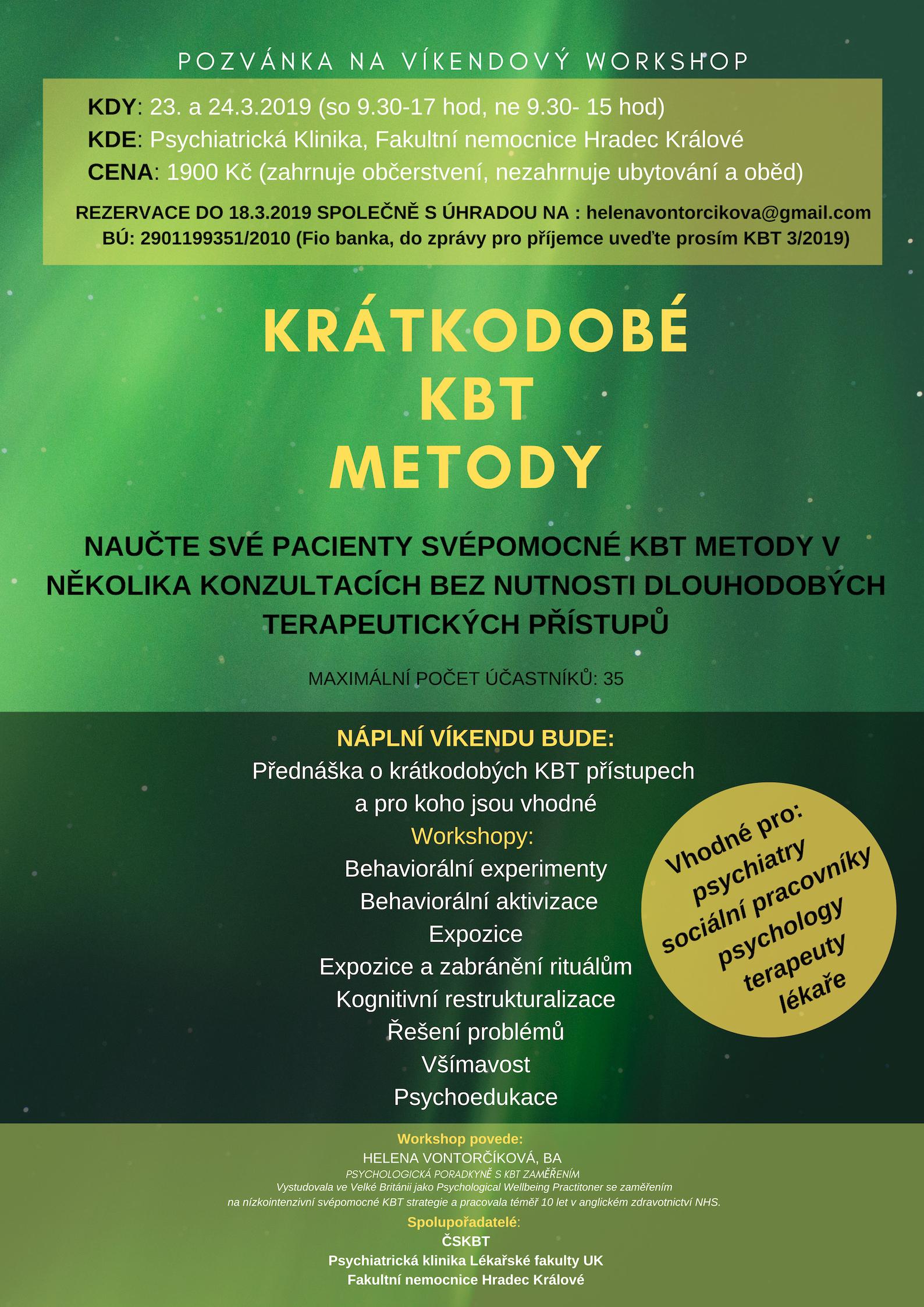 Workshop Krátkodobé KBT